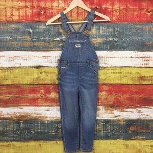 OshKosh B'Gosh Blue Denim Overalls Size 6
